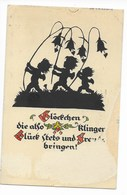 PLISCHKE-KARTE  4  -  GLÜCKWUNSCHKARTE  ~ 1930 - Silhouetkaarten