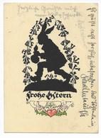 PLISCHKE-KARTE  65  -  FROHE OSTERN  ~ 1920 - Silhouetkaarten