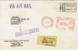 Bangladesch - Briefausschnitt Einschreiben (c532) - Argentinien