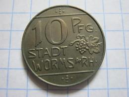 Worms 10 Pfennig 1918 - [ 2] 1871-1918 : Empire Allemand