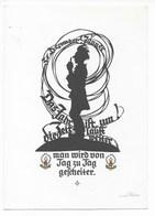 PLISCHKE-KARTE    -  NEUJAHR  ~ 1950 - Silhouetkaarten