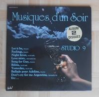Musiques D'un Soir - Studio 9 - Piano, Guitare, Trompette - Album Double 33T - Instrumental