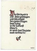 PLISCHKE-KARTE      -  SPRUCHKARTE  ~ 1960 - Silhouetkaarten