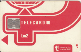 MALTA - Telecom Logo Lm2, CN : C3B043010, Chip SC7, 12/93, Used - Malta