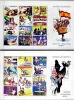 2017 Spain- History Of Spain 19 And 20 Th Centuary - 2 MS Comics MNH** Mi B 290+291 Lion, Knights, Kings, Art, War - 1931-Heute: 2. Rep. - ... Juan Carlos I
