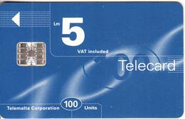 MALTA - Maltacom Telecard Lm 5/100 Units, CN : C6B169453, 04/97, Used - Malte