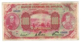 Bolivia 1000 Bolivianos 1928, P-127b , Rare. - Bolivia