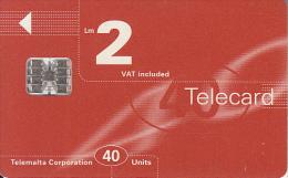 MALTA - Maltacom Telecard Lm 2/40 Units, CN : C6C173010, 09/96, Used - Malte