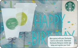 Malaysia  Starbucks Card Thank You 2017-6141 - Gift Cards