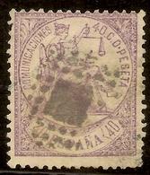 España Edifil 148 (º)  40 Céntimos Violeta  Alegoría Justicia  1874  NL793 - 1873-74 Regencia