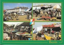 CPM. BENIN. DANTOKPA. LE GRAND MARCHE. 4 VUES. - Benín