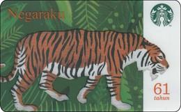 Malaysia  Starbucks Card Negaraku  2018-6158 Tiger - Gift Cards