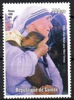 GUINEE GUINEA 1v Mint Neuf MNH** - Mother Theresa - Teresa Enfance - Charity - Childhood Kindheit  Infancia Infanzia - Mutter Teresa