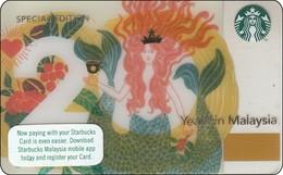 Malaysia  Starbucks Card 20 Years In Malaysia  2018-6162 - Gift Cards