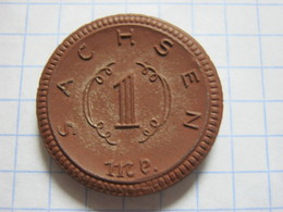 Saxony 1 Mark 1921 - [ 3] 1918-1933 : Republique De Weimar
