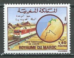 Maroc YT N°932 Ligne Ferroviaire De L'unité Neuf ** - Marokko (1956-...)