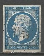 FRANCE - Oblitération Petits Chiffres LP 1358 GAILLAC-D'AVERYRON (Aveyron) - 1849-1876: Période Classique