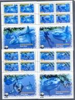 B29- British Colony Penrhyn 2003. WWF W.W.F Fish Marine Life. 4 Sheets. - Nuevos