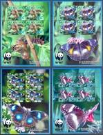 B30- British Colony Penrhyn 2008. Insects Butterflies WWF W.W.F 4 Sheets. - W.W.F.