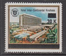 1977 Zaire 30k On 12k Hotel Intercontinental Definitive Surcharge   MNH - Zaire