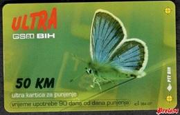 Bosnia Sarajevo - ULTRA PREPAID CARD (recharge) 50 KM Typ I PTT BIH - Bosnië