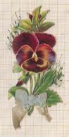 9AL1772 DECOUPIS PENSEE FLEUR 6 X3 CM 2 SCANS - Fleurs