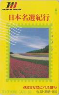 Télécarte Japon / 110-011 - FLEUR - TULIPE Sur TIMBRE - TULIP FLOWER On STAMP Japan Phonecard - 128 - Timbres & Monnaies
