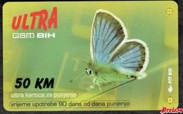 Bosnia Sarajevo - ULTRA PREPAID CARD (recharge) 50 KM Typ II PTT BIH - Bosnië