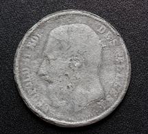 """Curiosité ! Faux Pour Servir - Pièce De 5 Francs Belge En étain Type """"Léopold II 1868 - Belgique"""" - 09. 5 Francs"""