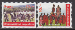 2013 Kenya  90/- Masai Dancing Culture - Set Of 2 MNH ***  Much Cheaper Than Buying Sheet *** - Tanz