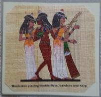 Egypt - Papyrus - Musicians - Dessins