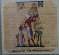 Egypt - Papyrus - Akhenaten And Family Offering To God Aton - Dessins