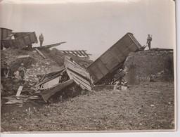 BRITISH WESTERN FRONT IN FRANCE GERMANS MINED A BRIDGE TRAINS RAILWAY +-20*15CM WORLD WAR GUERRE MUNDIAL - Trenes