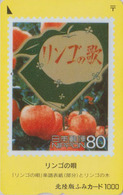 Carte Prépayée Japon - POMME Sur TIMBRE - FRUITS - Fruit STAMP On Japan Fumi Card - Apfel Obst Auf BRIEFMARKE - 139 - Francobolli & Monete