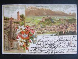 AK SALZBURG LItho 1893 !!  /// D*39387 - Salzburg Stadt