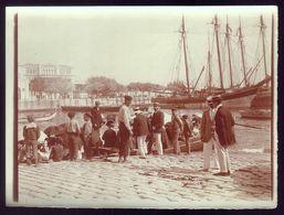 Fotografia Antiga FIGUEIRA Da FOZ Barcos DOCA Mondego, Junto à CAMARA . Old Real Photo (Coimbra) 1900s PORTUGAL - Fotos