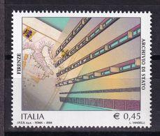 Italy, 2004- Il Patrimonio Artistico E Culturale Italiano. Archivio Di Stato Di Firenze. MNH - 6. 1946-.. Republic