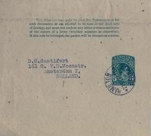 1947 , BERMUDA , FAJA POSTAL PARA PRENSA CIRCULADA , HAMILTON - AMSTERDAM - Bermuda