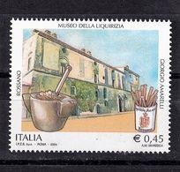 Italy, 2004- Patrimonio Artistico E Culturale Italiano.Museo Della Liquirizia. Cat. UNIFICATO N° 2787. MintNH. - 6. 1946-.. Republic