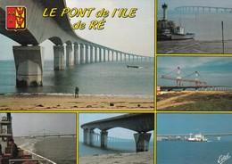 17 Pont De L'Ile De Ré, Multivues, Blason, Editions Estel - Ponti