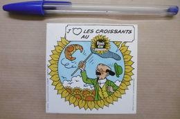 "Autocollant - Tintin Hergé ""Le Professeur Tournesol"" Lombard 1985 - Stickers"