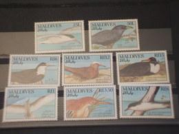 MALDIVES - 1990 UCCELLI 4 + 4 VALORI - NUOVI(++) - Maldive (1965-...)