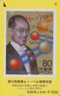 TIMBRE Sur Carte Japon -  PRIX NOBEL De PHYSIQUE - STAMP On Japan Card - BRIEFMARKE Auf Fumi Karte - 150 - Personnages