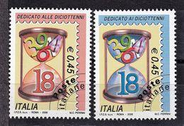 Italy, 2006- Francobolli Dedicati Alle Diciottenni Ed Ai Diciottenni. Full Set. MNH - 6. 1946-.. Republic