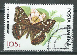 Roumanie 1993 Papillon Limenitis Populi L.oblitéré ° - Butterflies