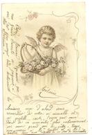 21 - Ange Portant Un Panier De Fleurs - Anges