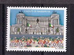 Italy, 2006- In Ricordo Dei Caduti Di Nassiriya. MNH - 6. 1946-.. Republic
