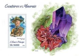 Sao Tome & Principe 2013. [st13308] Scouts And Minerals (s\s+bl) - Mineralien