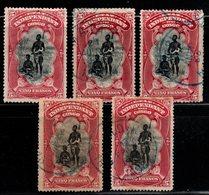 S032.-. BELGIUM CONGO. 1894-1901 - SC#: 26 - COLOR VARIETIES, SHADES, USED - BANGALA CHIEF AND WIFE - Belgisch-Kongo