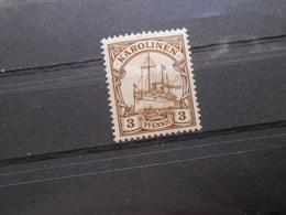 D.R.7 - 3Pf*MLH - Deutsche Kolonien (Karolinen) 1900  Mi 1,20 € - Colony: Caroline Islands